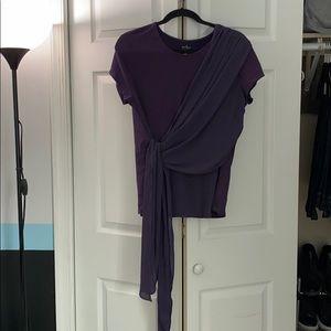 Dressy drape shirt